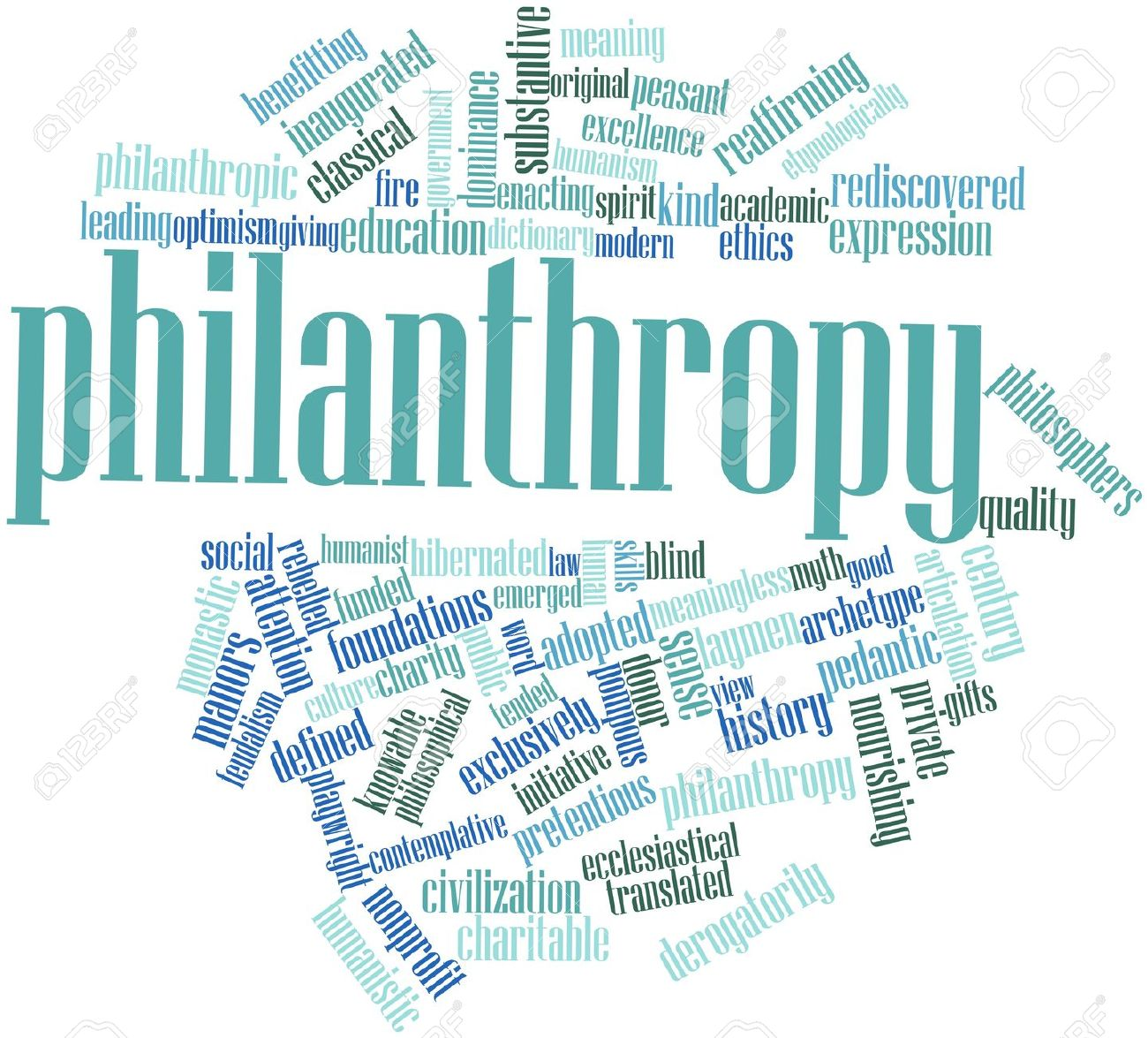 16602759-Abstract-word-cloud-for-Philanthropy-with-related-tags-and-terms-Stock-Photo